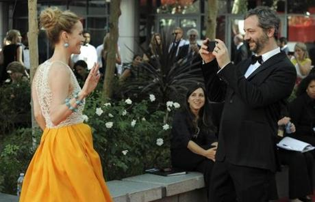 Actress Leslie Mann, left, and director Judd Apatow.